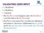 validating user input1