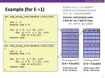 example for e 1