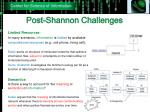 post shannon challenges2