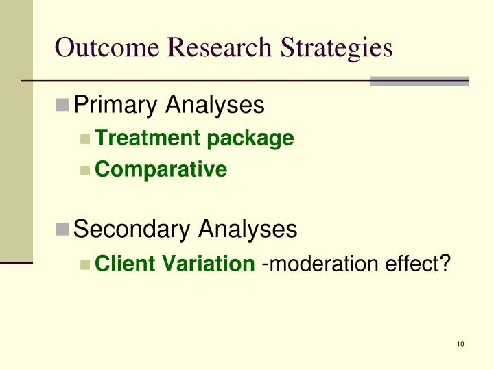 Outcome Research Strategies