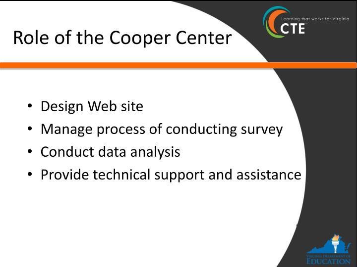 Role of the Cooper Center