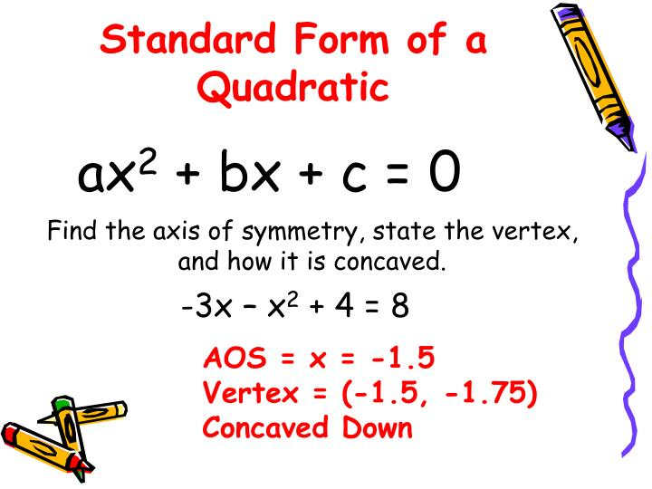 Ppt 43 Graph Quadratic Functions In Vertex Or Intercept Forms