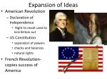 expansion of ideas