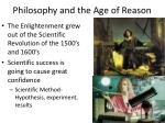 philosophy and the age of reason