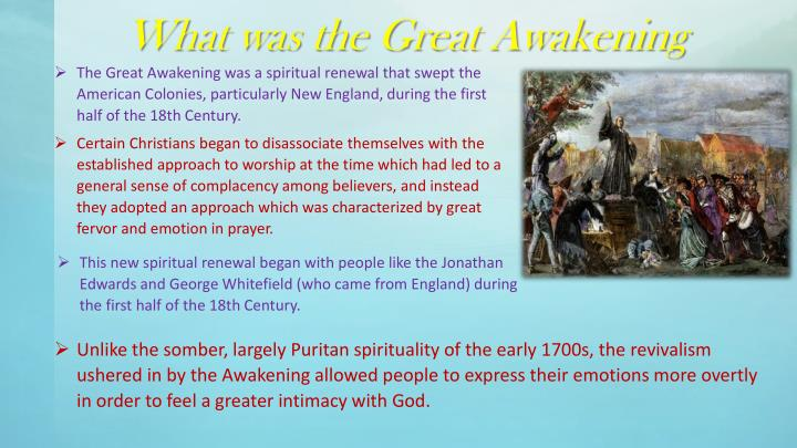 What was the Great Awakening