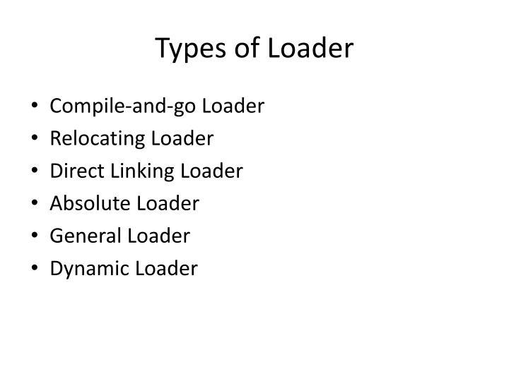 Types of Loader