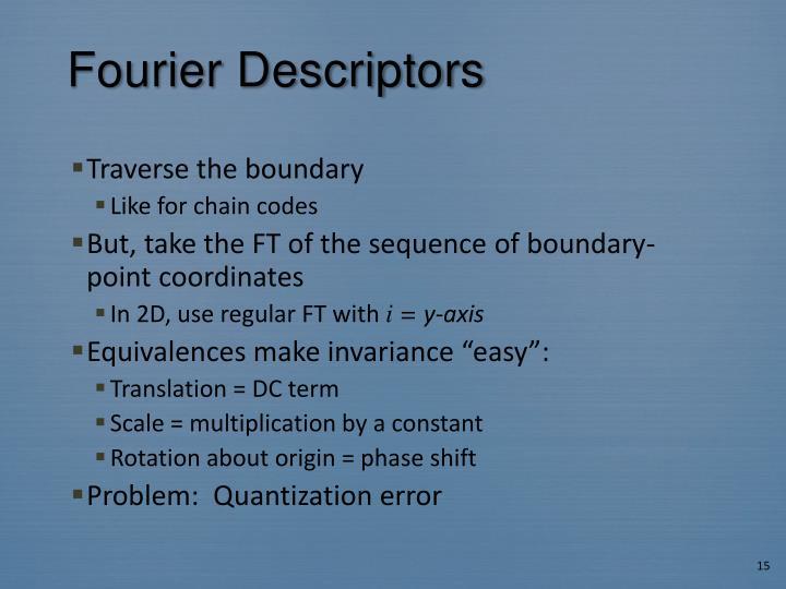 Fourier Descriptors