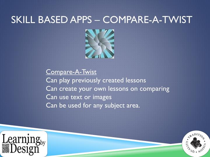Skill Based Apps – Compare-A-Twist
