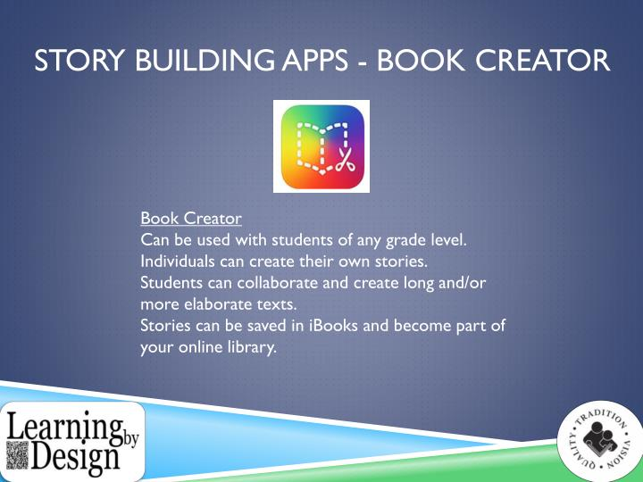 Story Building Apps - Book creator