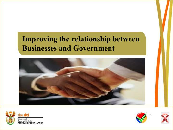 improving the relationship between businesses and government n.