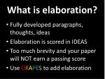 what is elaboration