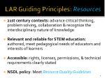 lar guiding principles resources