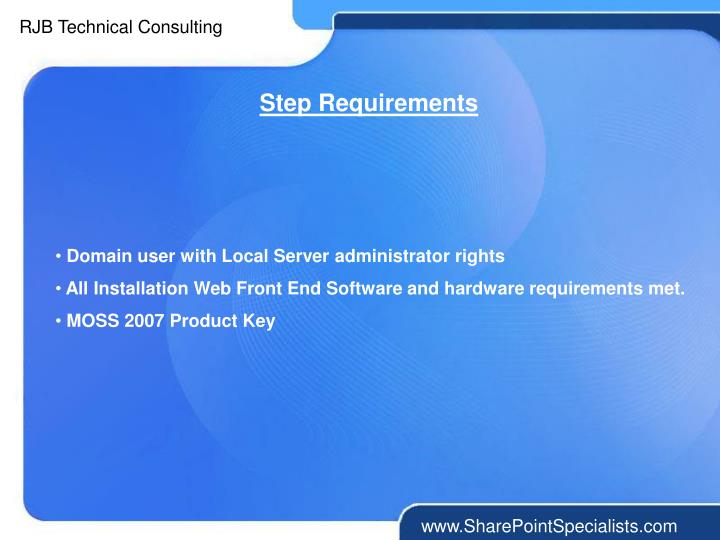 Step Requirements