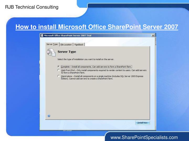 How to install Microsoft Office SharePoint Server 2007