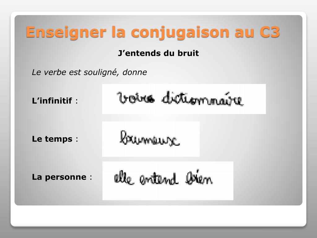 Ppt Enseigner La Conjugaison Au C3 Powerpoint Presentation Free Download Id 2261674