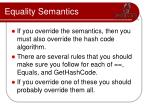 equality semantics