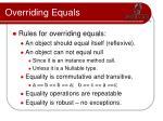 overriding equals