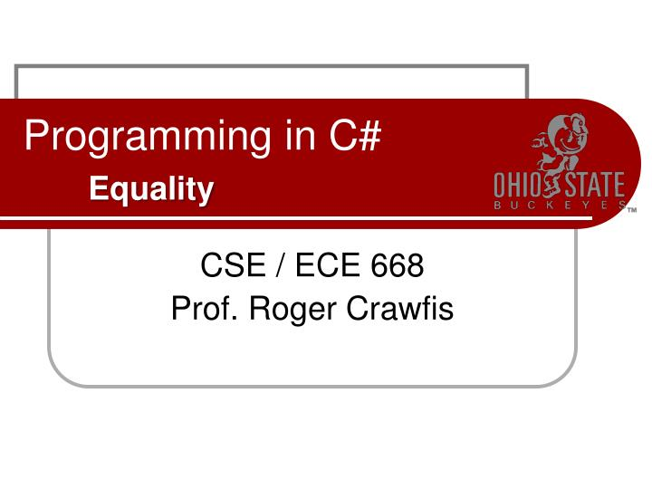 programming in c equality n.