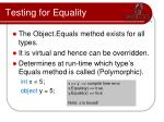 testing for equality2