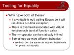 testing for equality3