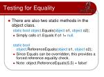 testing for equality4