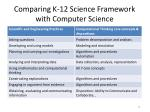 comparing k 12 science framework with computer science