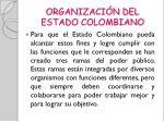 organizaci n del estado colombiano