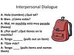 interpersonal dialogue