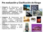 pre evaluaci n y clasificaci n de riesgo