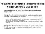 requisitos de acuerdo a la clasificaci n de riesgo consulta y divulgaci n