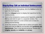 step by step edit an individual subdocument