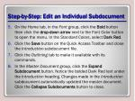 step by step edit an individual subdocument1