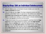 step by step edit an individual subdocument2