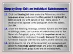 step by step edit an individual subdocument3