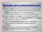 step by step edit an individual subdocument4