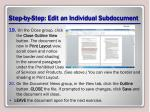step by step edit an individual subdocument5