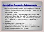 step by step reorganize subdocuments