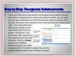 step by step reorganize subdocuments1