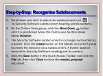 step by step reorganize subdocuments2