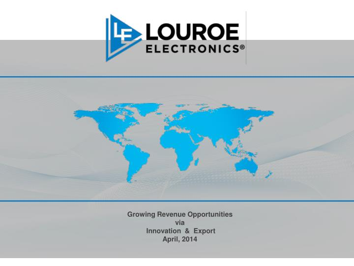 growing revenue opportunities v ia innovation export april 2014 n.