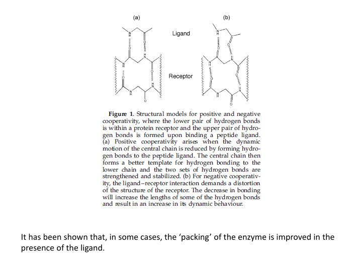 It has been shown that, in some cases, the 'packing' of the enzyme is improved in the presence o...
