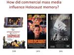 how did commercial mass media influence holocaust memory