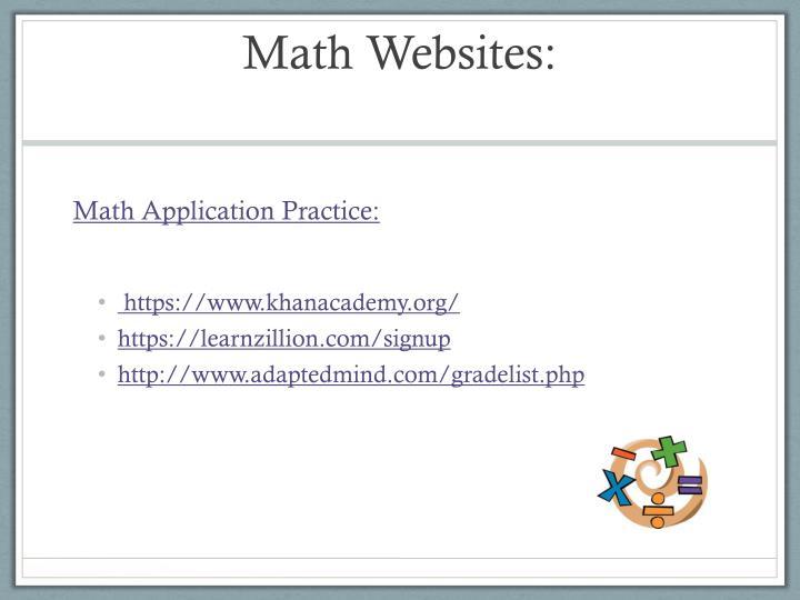 Math Websites: