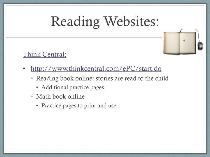 Reading websites