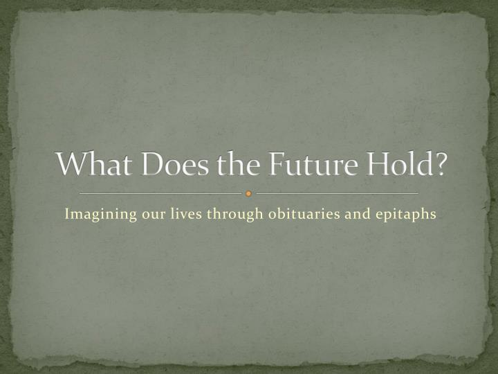 what does the future hold n.