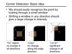 corner detection basic idea
