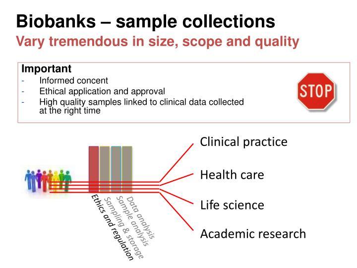 Biobanks sample collections