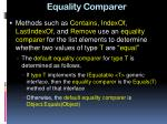 equality comparer
