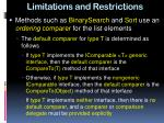 limitations and restrictions2