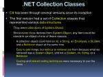 net collection classes